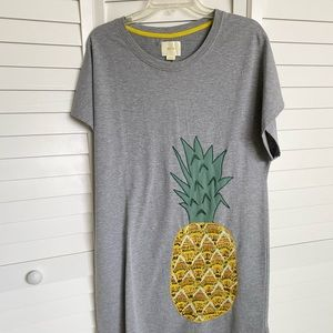 Anthropologie T-shirt pineapple dress